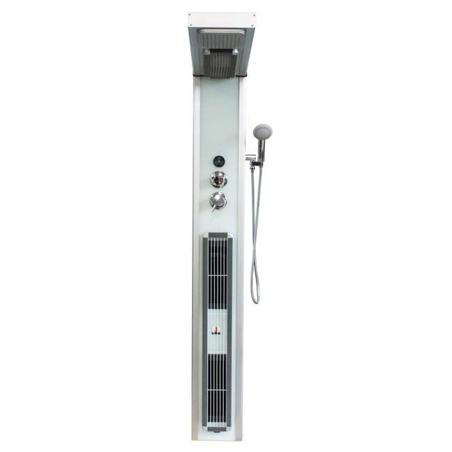 SaniGoods Valdes Douchepaneel infrarood met regendouche 190x25 wit
