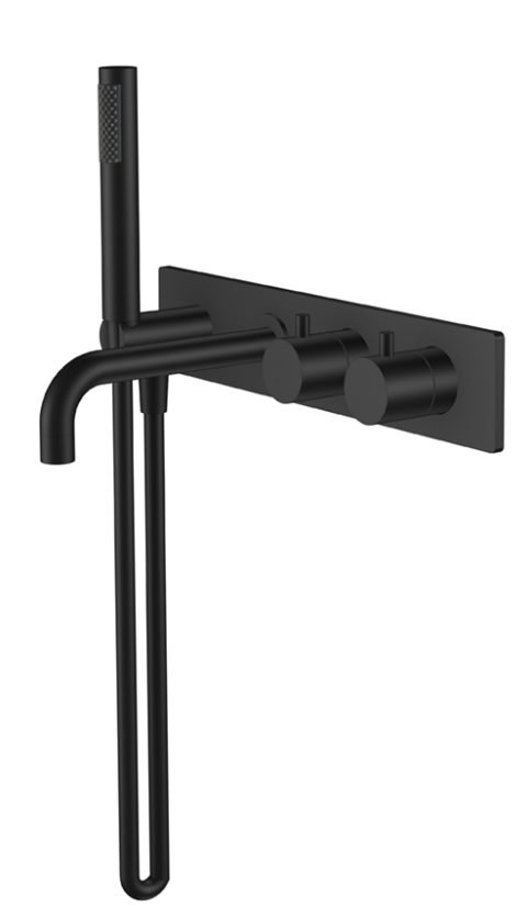 Wiesbaden Style inbouw badthermostaat zwart mat