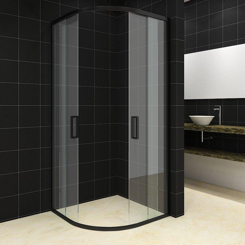 SaniGoods Milano Douchecabine 80x80 kwartrond zwart