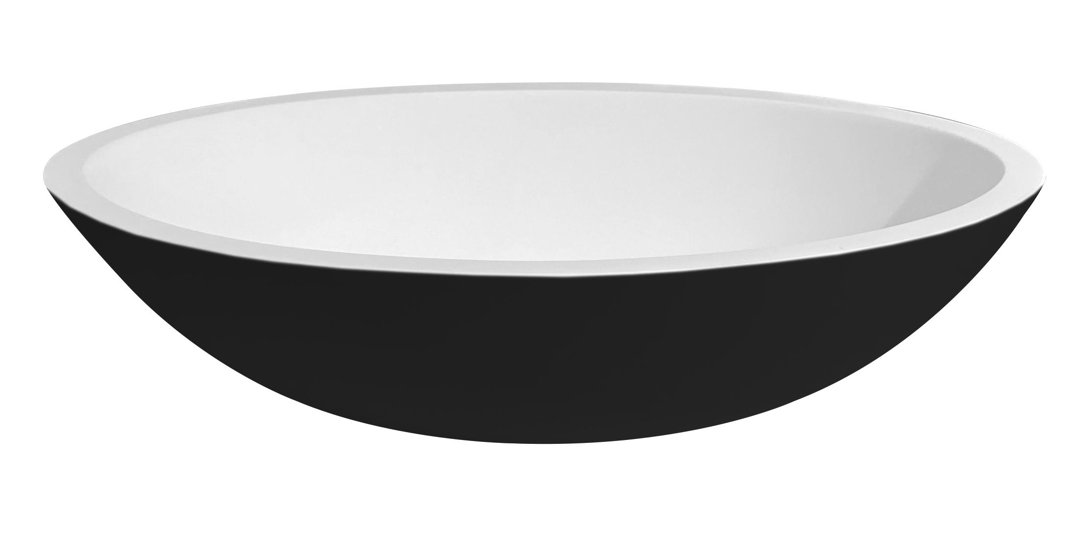 Best Design Just Solid Epona waskom 52 cm zwart wit