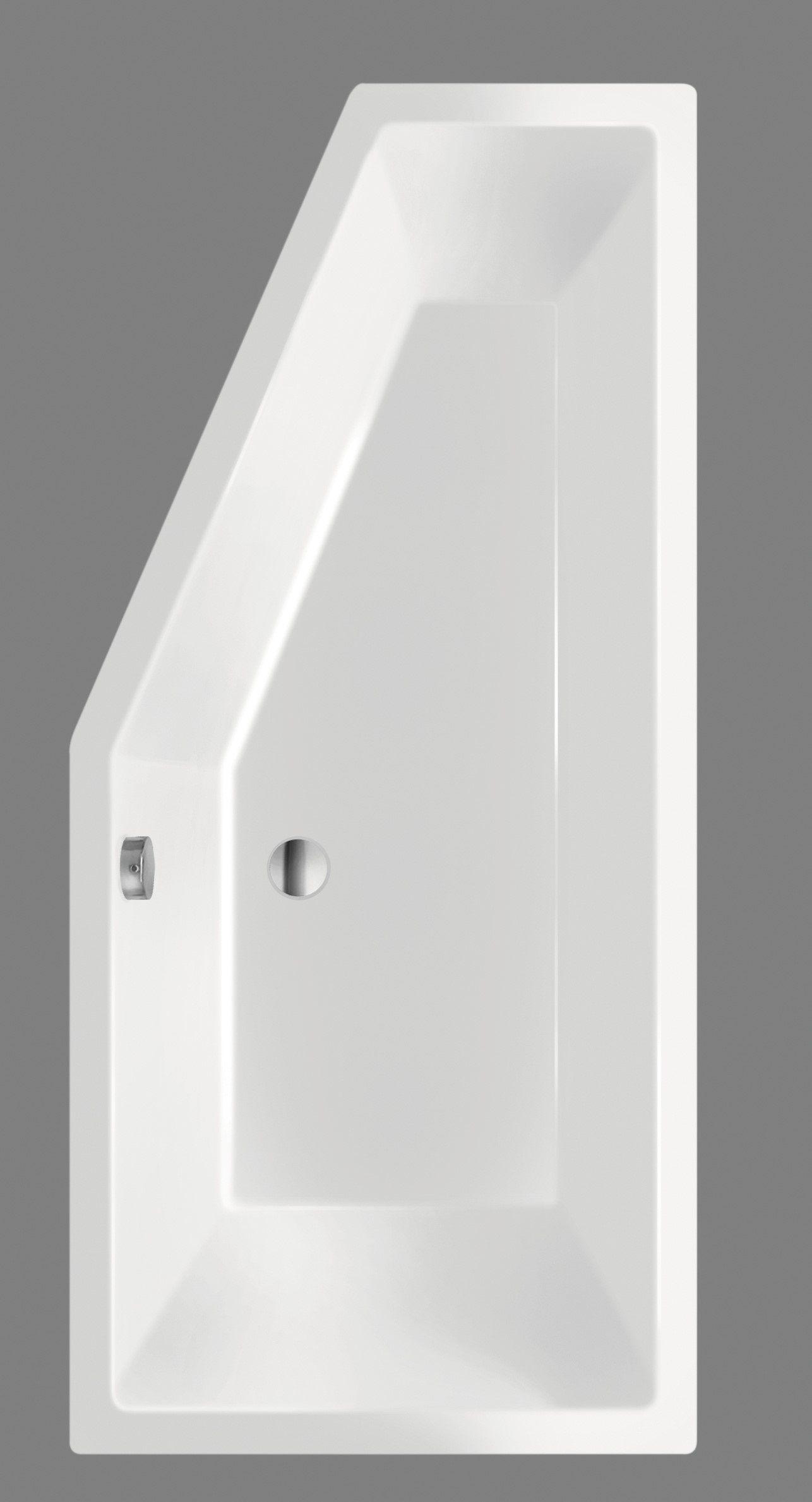 Productafbeelding van Xenz Society Compact badkuip rechts 170x75x44cm cement