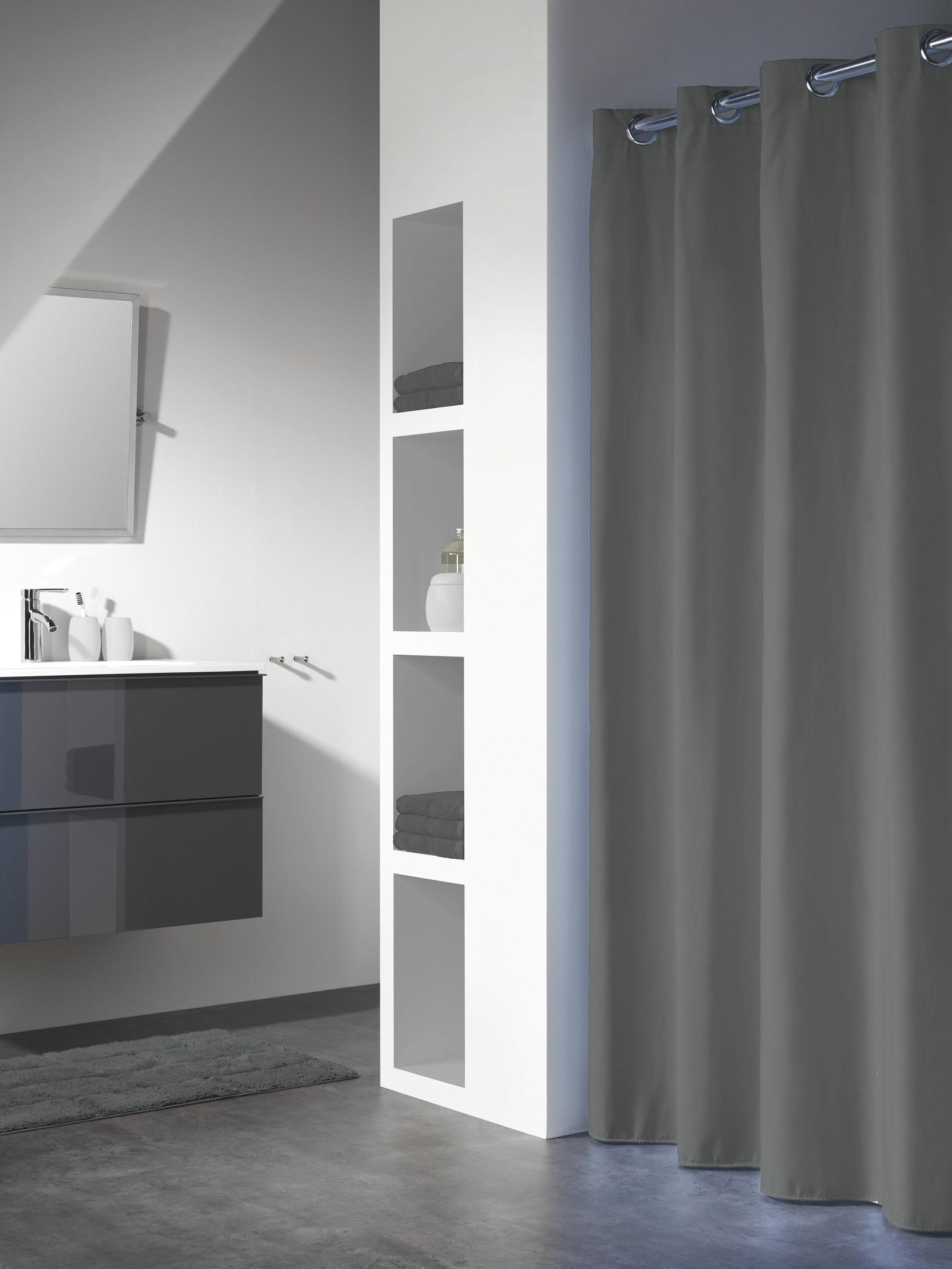 Sealskin douchegordijn Coloris polyester/katoen grijs 180x200 cm