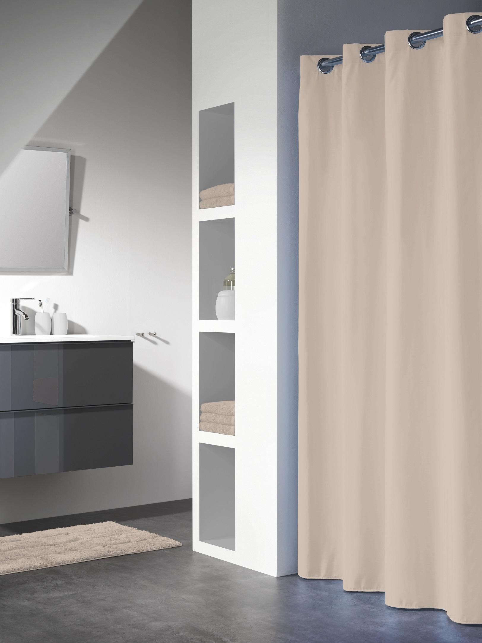 Sealskin douchegordijn Coloris polyester/katoen ecru 180x200 cm