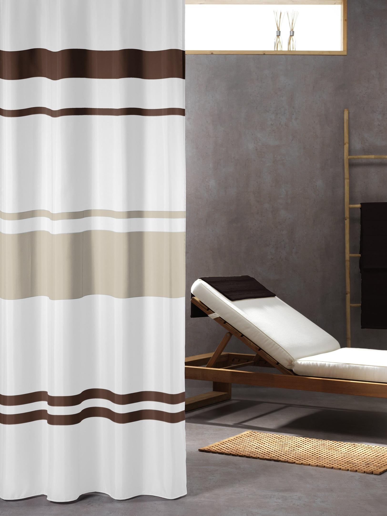 Sealskin Urban douchegordijn textiel 180x200cm bruin