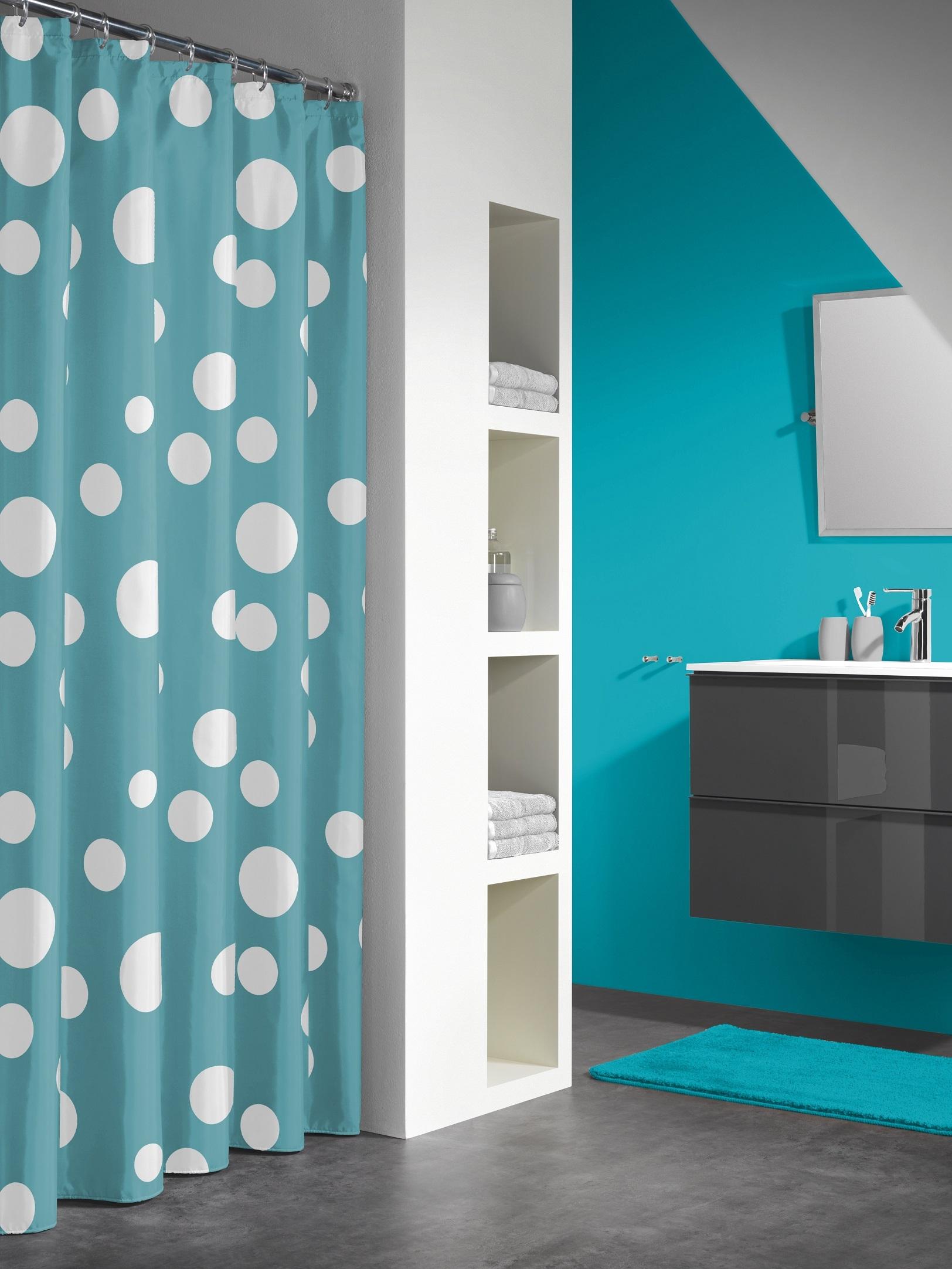 Sealskin douchegordijn Bubbles PEVA aqua print 180x200 cm