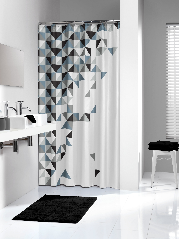 Sealskin douchegordijn Tangram 100% polyester zwart print 180x200 cm