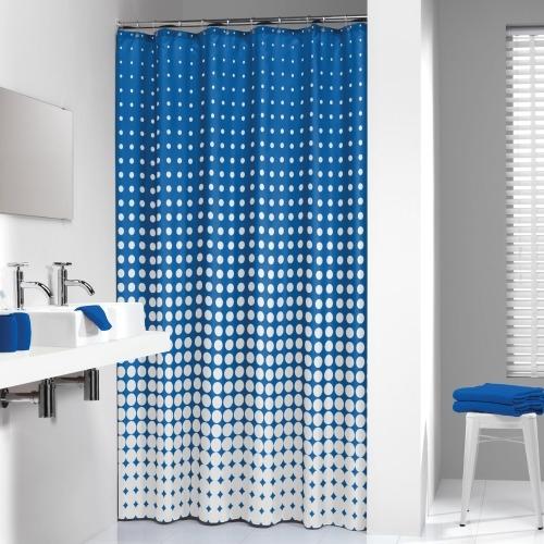 Sealskin douchegordijn Speckles polyester blauw print 180x200 cm