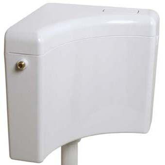 ABU Delta laaghangend reservoir hoekmodel single flush 6-9 liter instelbaar wit