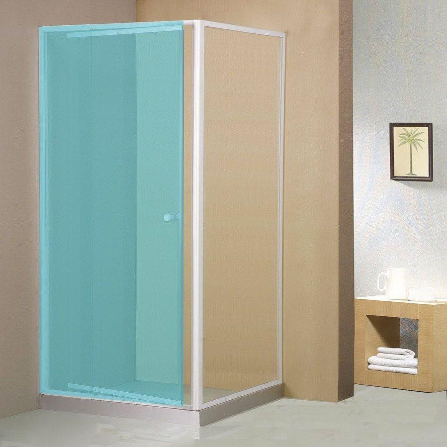 Aqualine 300 zijwand voor douchedeur 80x185cm wit