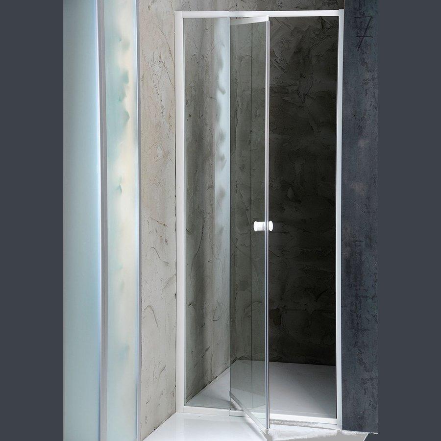 Aqualine Amica douchedeur 104 - 122cm stelbaar wit