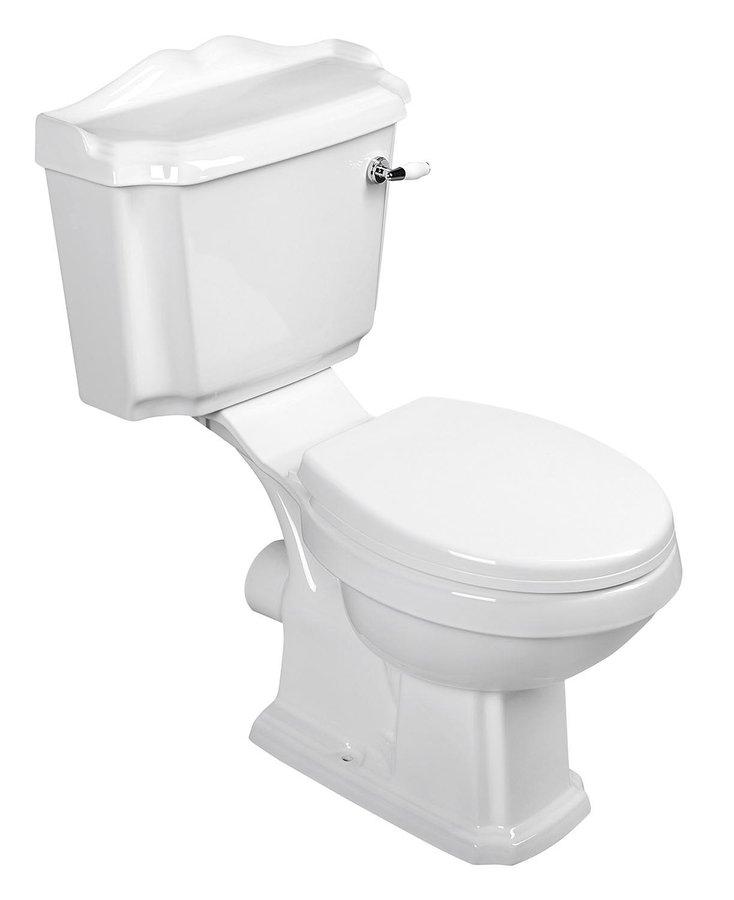 Aqualine Antik duoblok toilet keramiek wit