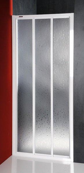Aqualine DTR 3-delige schuif douchedeur 100x185cm wit