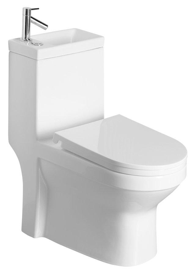 Aqualine Hygie duoblok staand toilet met fontein wit