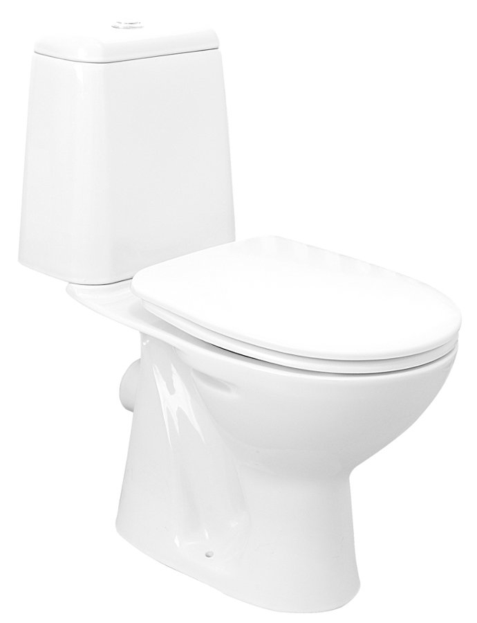 Aqualine Riga toilet zonder zitting wit PK