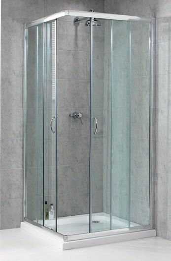 Aqualux Shine Douchecabine vierkant 90x90cm anti-kalk