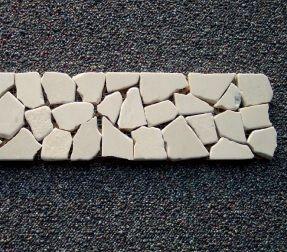 B-Stone Crema Marble 4 mozaik 30x8cm