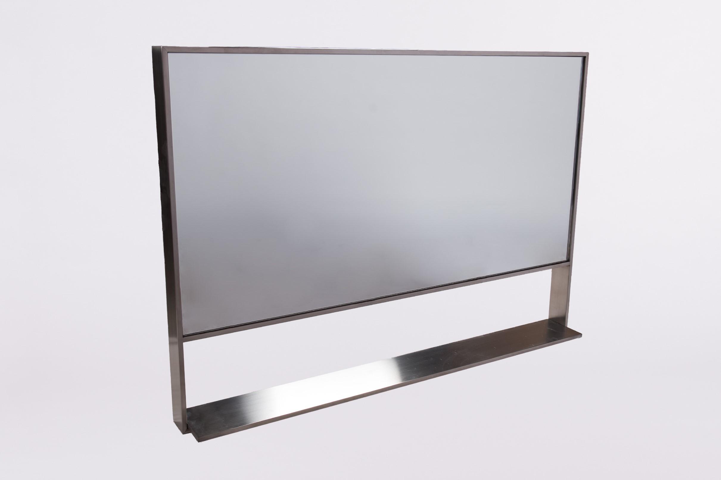 B-Stone Himalaya RVS spiegel 100x70cm met planchet te koop met voordeel