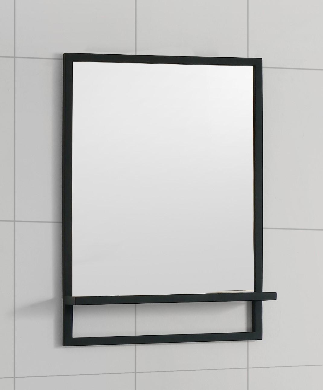 B-Stone Metal zwarte spiegel met planchet 55x70cm te koop met voordeel