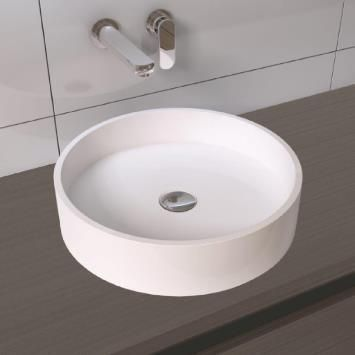 B-Stone Noa Wastafel 42cm Solid Surface