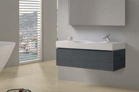 Teak badkamermeubel kolomkast wasbakken totaal meter br te