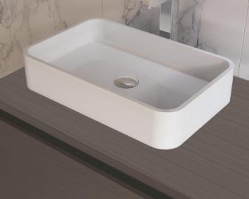 B-Stone Rubia Wastafel 50x32cm Solid Surface