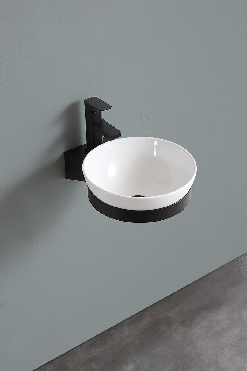 B-Stone Tune toilet fontein kom met houder zwart