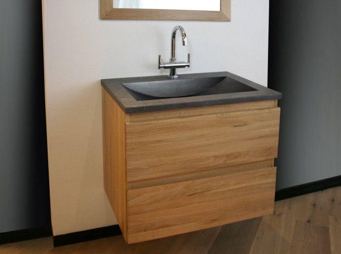Badkamermeubel Natuursteen: Badkamermeubel hout natuursteen badkamers ...