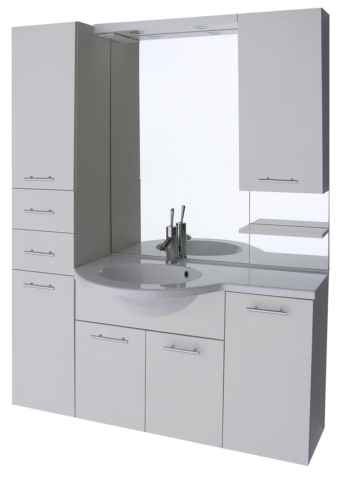 Badstuber Atrium badmeubel 135cm met spiegel wit