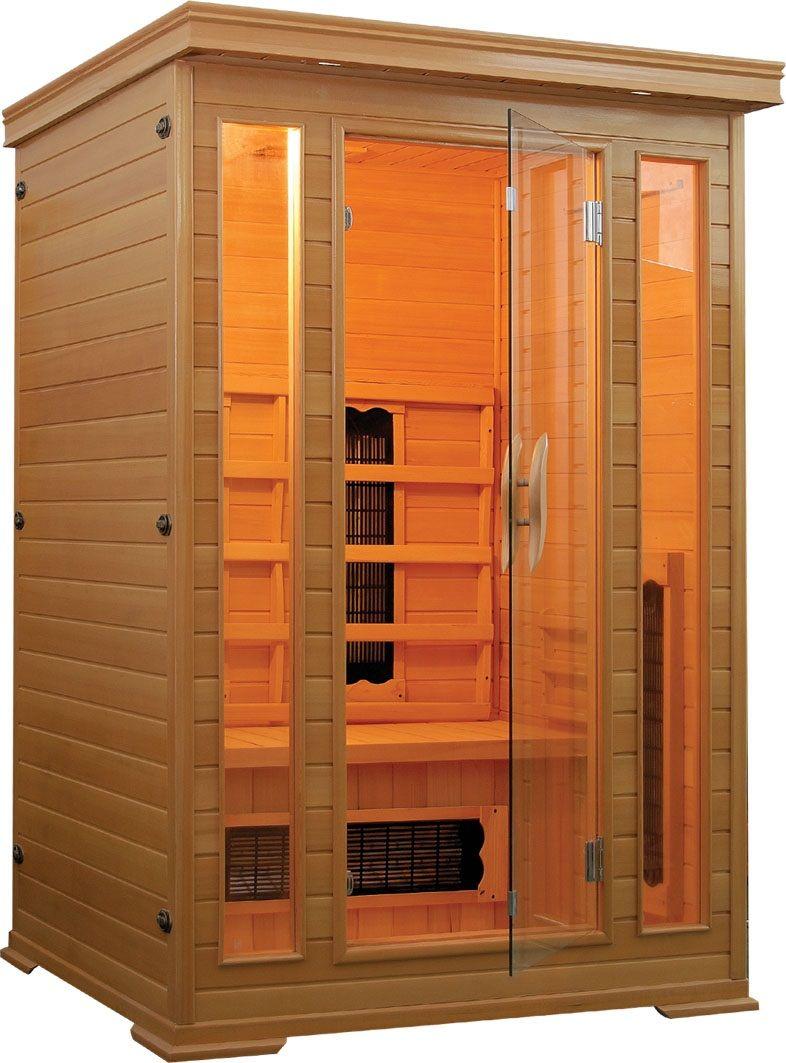 Productafbeelding van Badstuber Carmen infrarood sauna 120x120cm 2 persoons