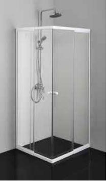 Badstuber Corner white 80-90x80-90cm douchecabine helderglas