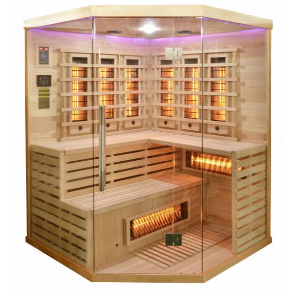 Productafbeelding van Badstuber Deluxe infrarood sauna 150x150cm 3-4 persoons