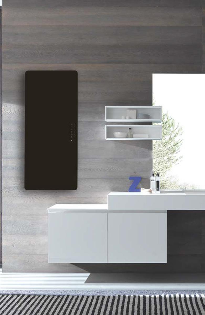 Badstuber E-rom elektrische radiator 100x50 700W zwart glas