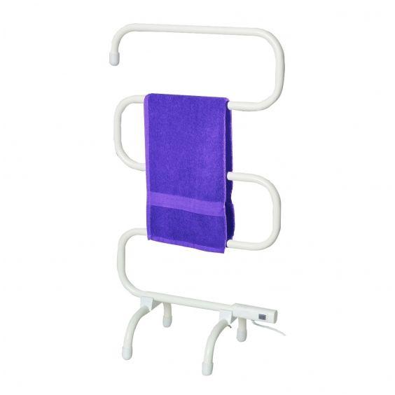 Badstuber Elec vrijstaande elektrische handdoek radiator wit