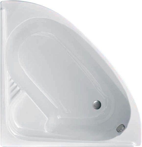 Productafbeelding van Badstuber Firenze badkuip kwartrond 130x130cm wit
