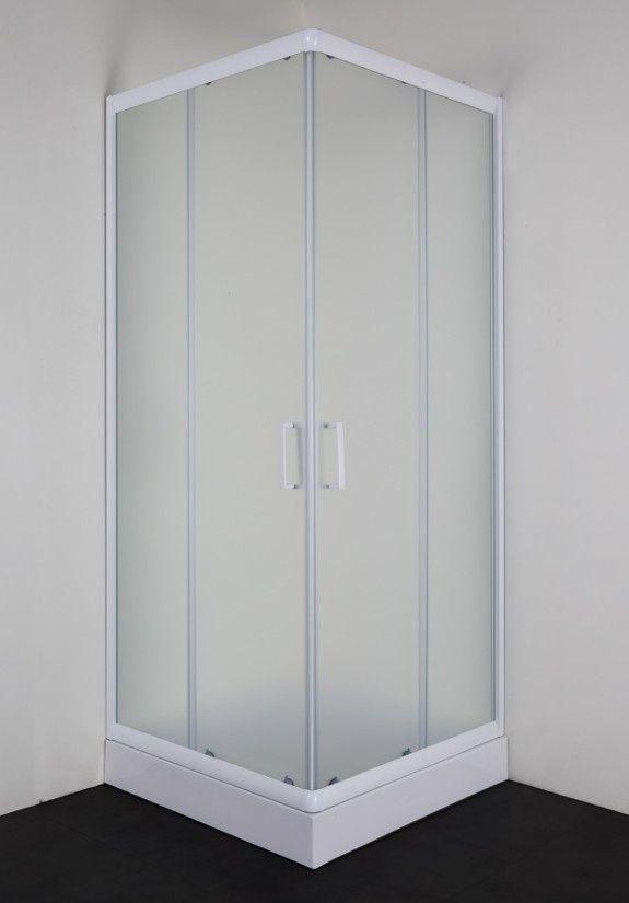Badstuber Freeze vierkante douchecabine 80x80cm wit matglas