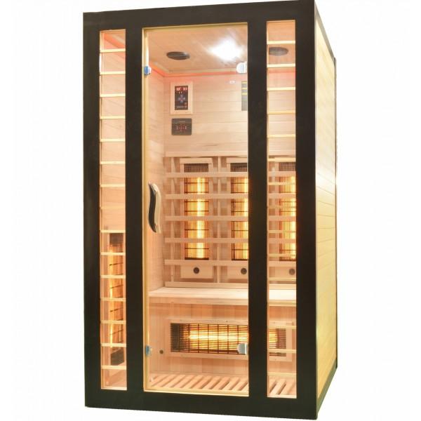 Productafbeelding van Badstuber Fresh infrarood sauna 120x105cm 2 persoons zwart
