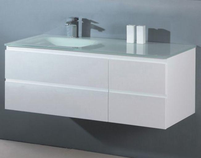 Badstuber Glass badkamermeubel 100cm hoogglans wit