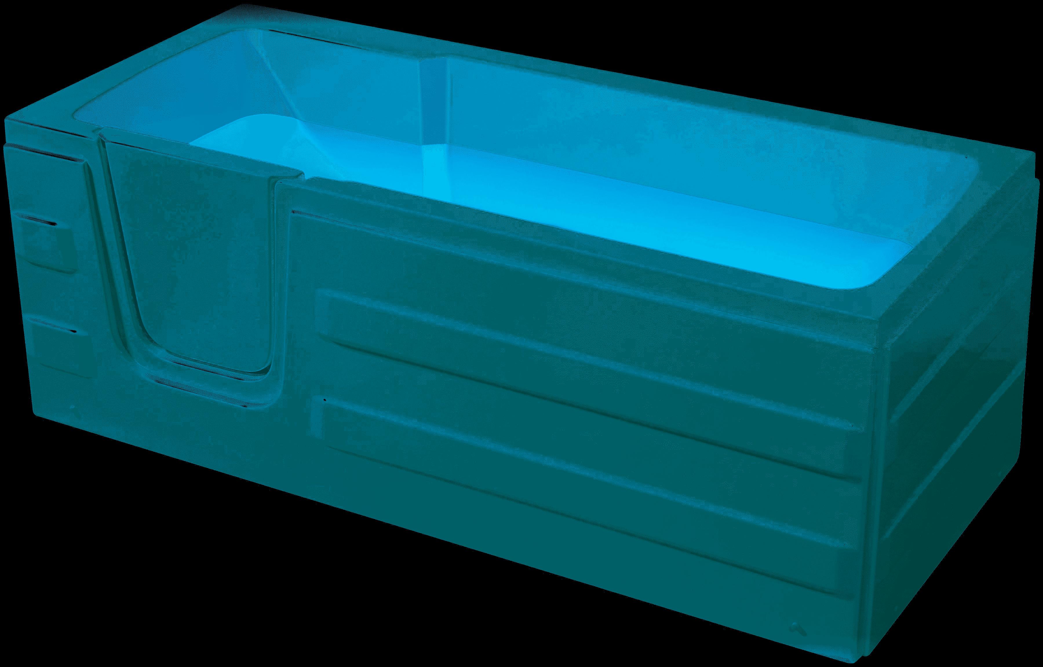 Productafbeelding van Badstuber Haiti instap ligbad 170x76cm met deur