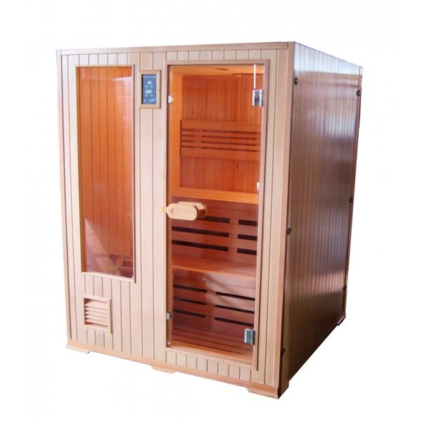 Productafbeelding van Badstuber Helsinki Finse sauna 152x152cm 3 persoons