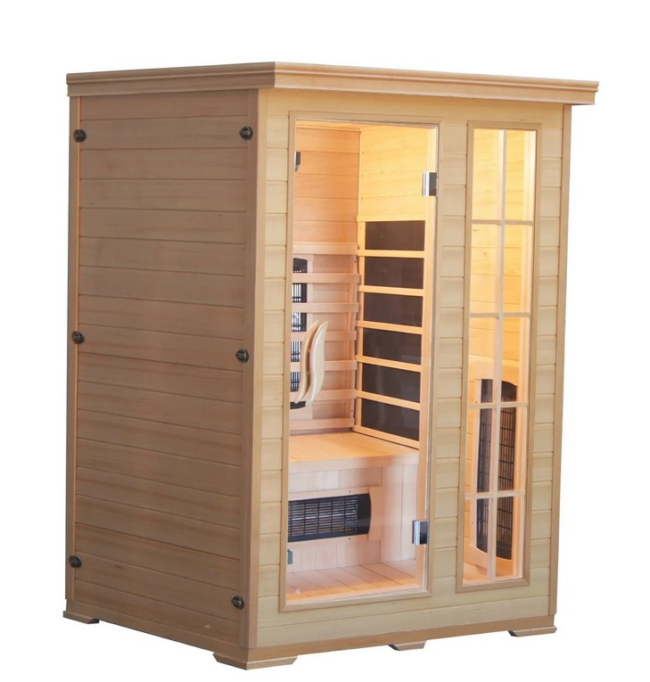 Productafbeelding van Badstuber Kombi infrarood sauna 124x116cm 2 personen