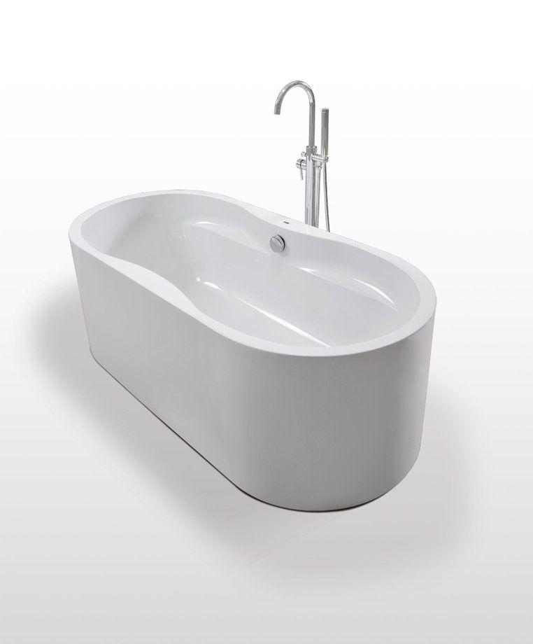 Badstuber Liverpool vrijstaand bad 178x88cm wit