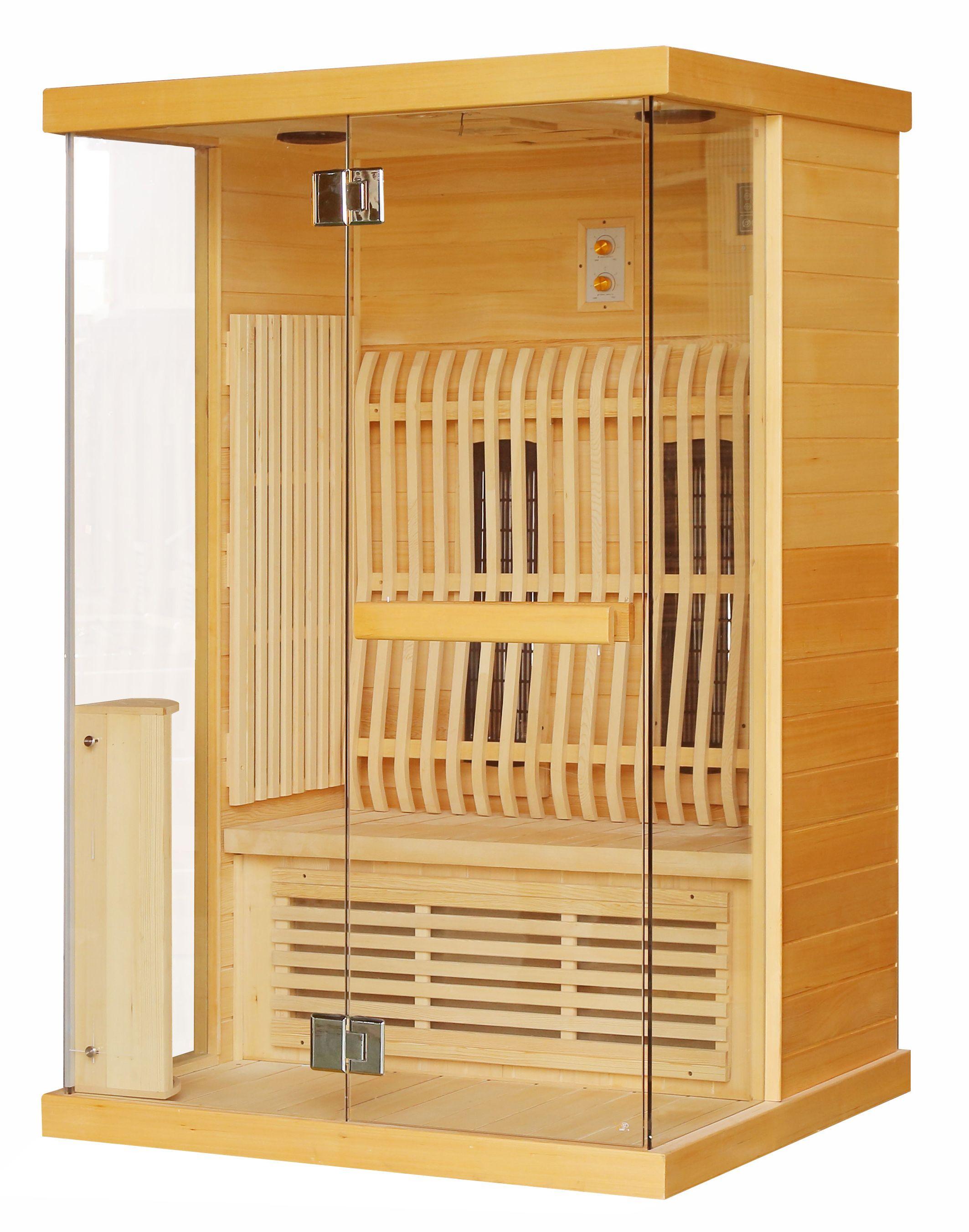 Productafbeelding van Badstuber Luna infrarood sauna 120x100cm 2 persoons