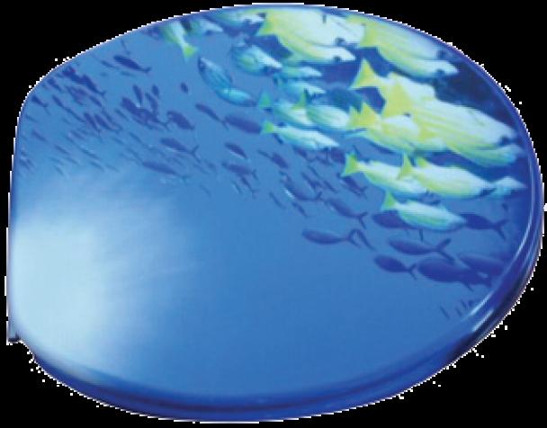 Badstuber Ocean toiletzitting blauw MDF
