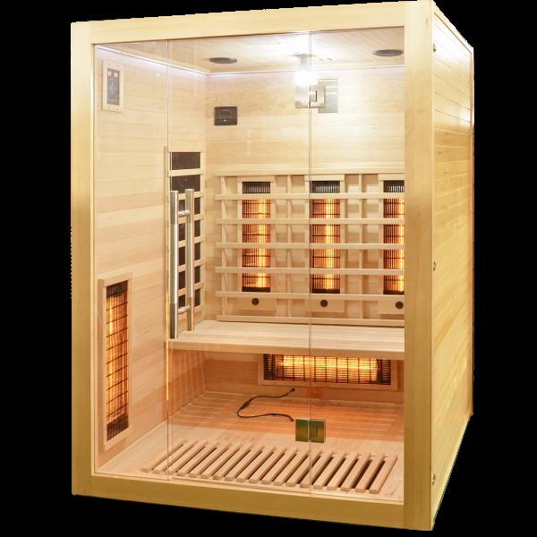 Productafbeelding van Badstuber Open infrarood sauna 150x120cm 3 persoons