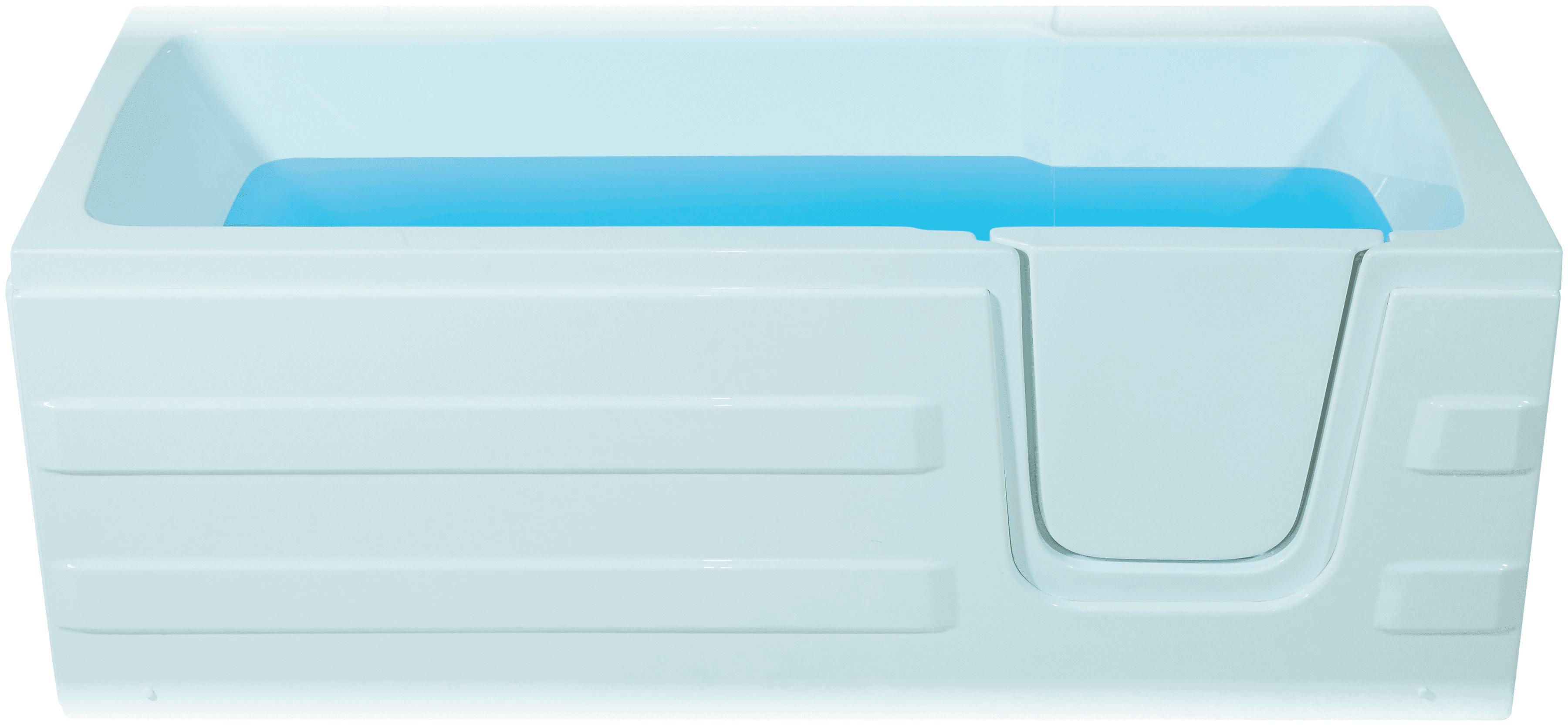 Productafbeelding van Badstuber Paros instap ligbad 170x76cm met deur rechts