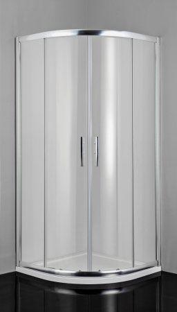 Badstuber Pro-Line douchecabine kwartrond met anti-kalk coating 100x100x200cm