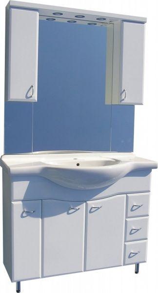 Badstuber Sanremo staand badkamermeubel 105cm wit