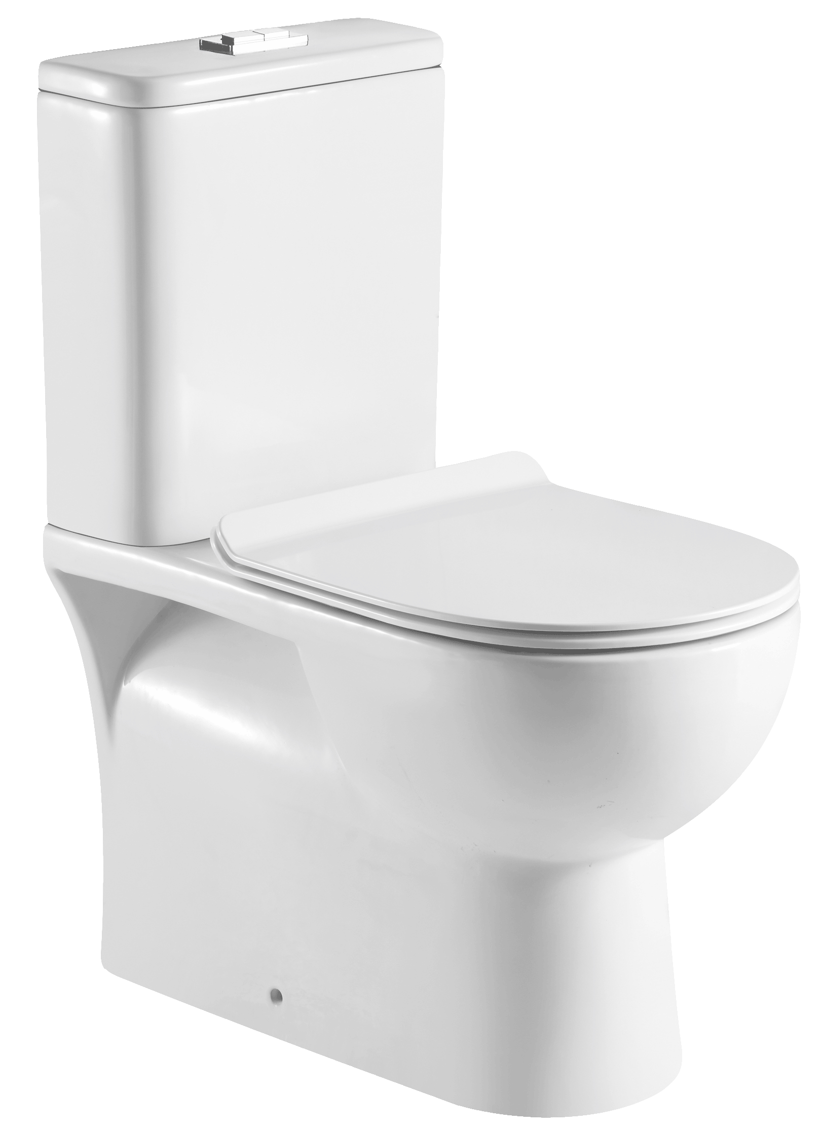 Productafbeelding van Badstuber Siena duoblok staand toilet met reservoir en zitting