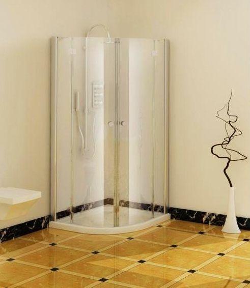 Badstuber Smart douchecabine kwartrond met 2 deuren 90x90cm