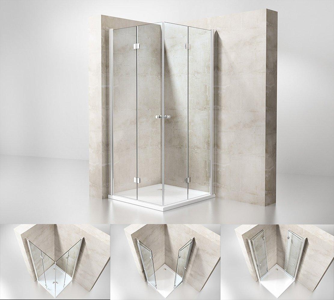 Productafbeelding van Badstuber Smart douchecabine met 2 vouwdeuren 100x100cm